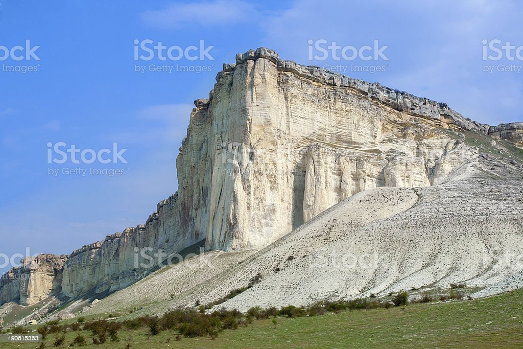 White cliff. Crimea. Ukraine stock photo