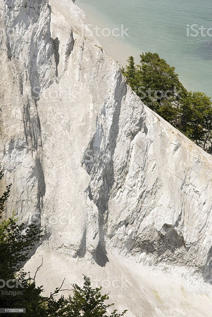 White cliff made of chalk royalty-free stock photo