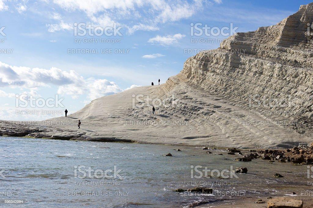 white cliff of Scala dei Turchi royalty-free stock photo