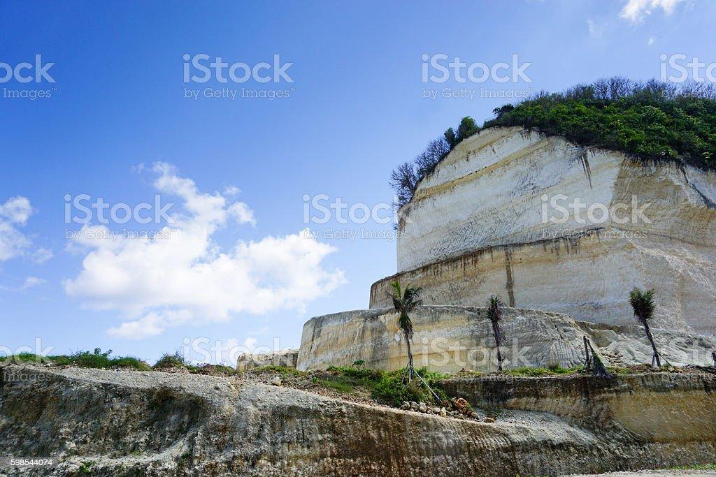 White cliff on way to melasti beach in bali indonesia photo libre de droits