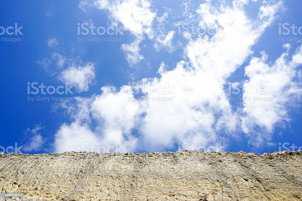 White cliff over the sky in melasti beach bali indonesia photo libre de droits