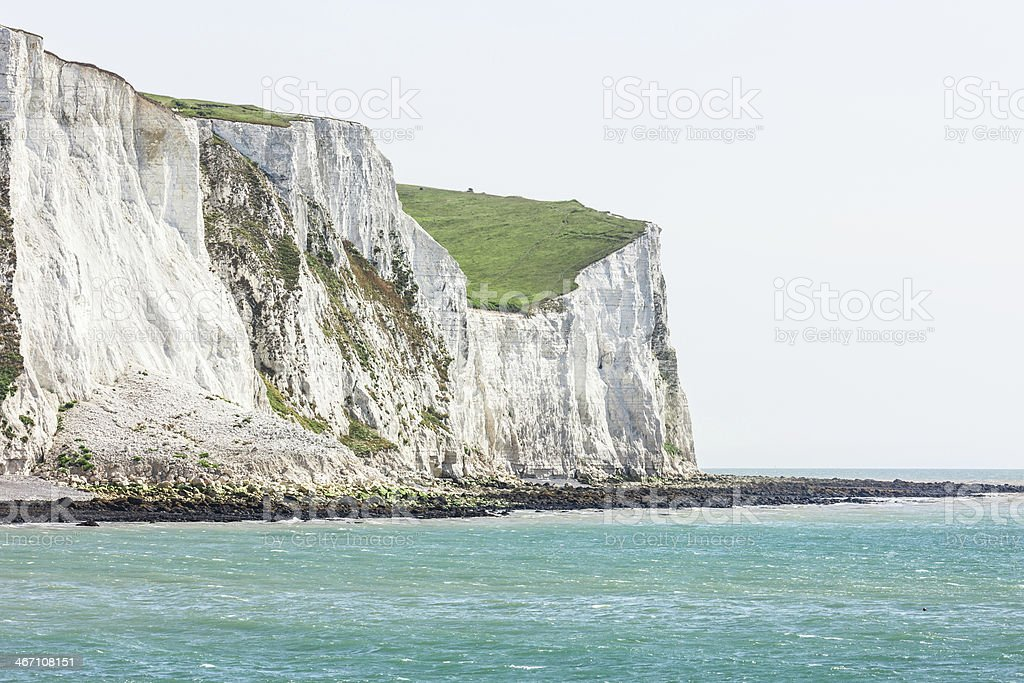 White cliffs of Dover, England stock photo