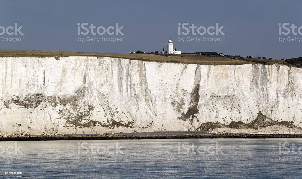 White Cliffs of Dover in Kent England stock photo