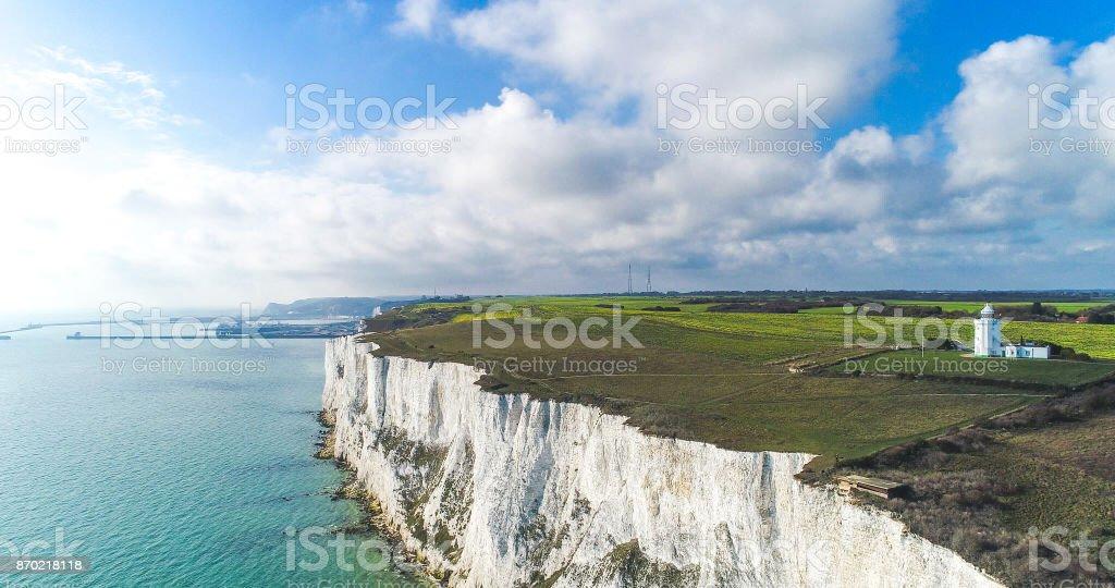 White Cliffs of Dover, Kent, UK. stock photo
