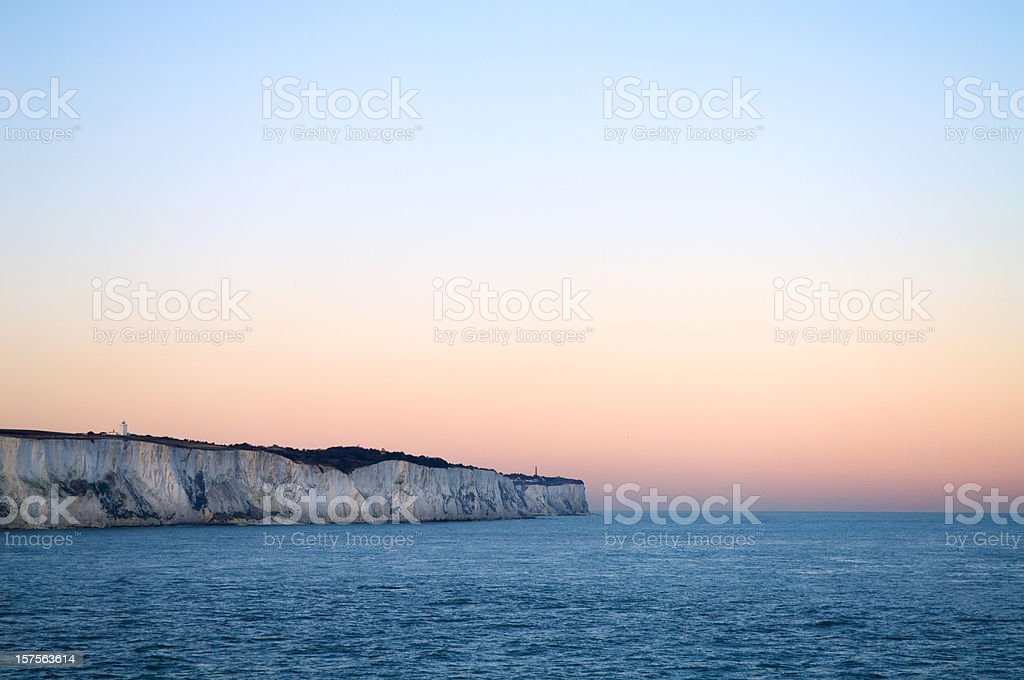 White Cliffs of Dover stock photo