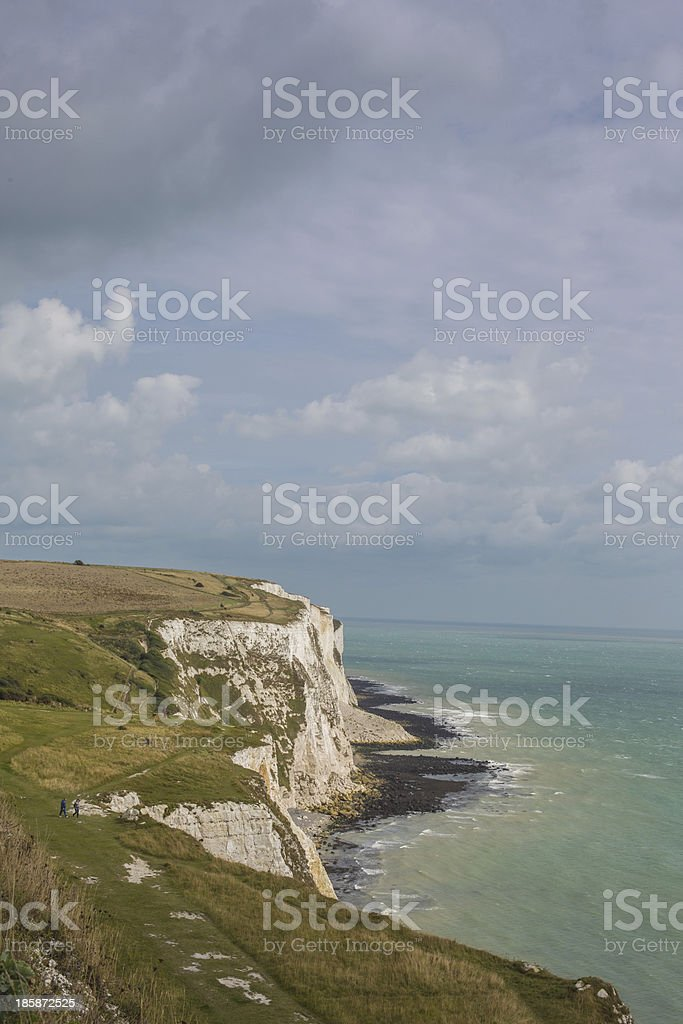 White Cliffs of Dover royalty-free stock photo