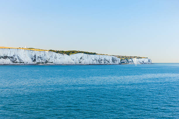 white cliffs of dover - english channel stock pictures, royalty-free photos & images