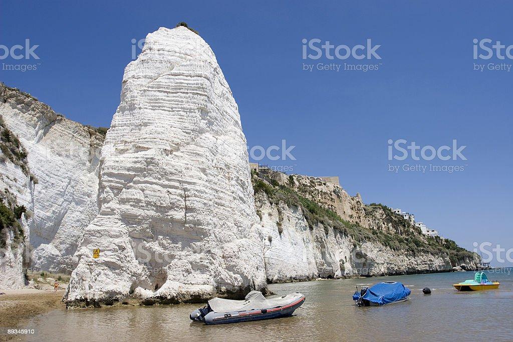 White Cliffs of Vieste royalty-free stock photo