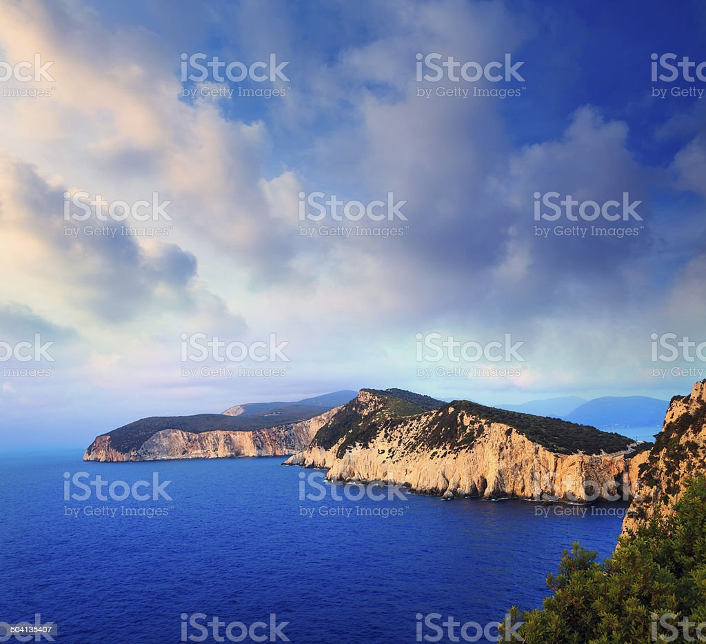 White Cliffs On Levkas royalty-free stock photo