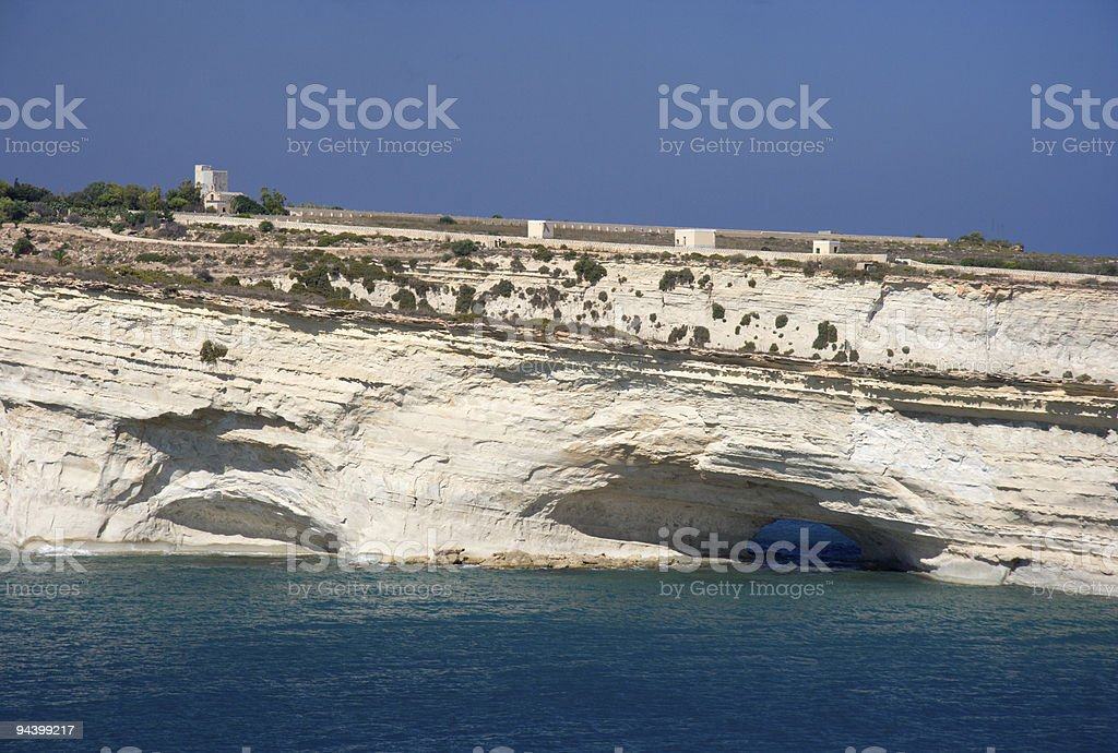 White Cliffs With Tunnel royalty-free stock photo