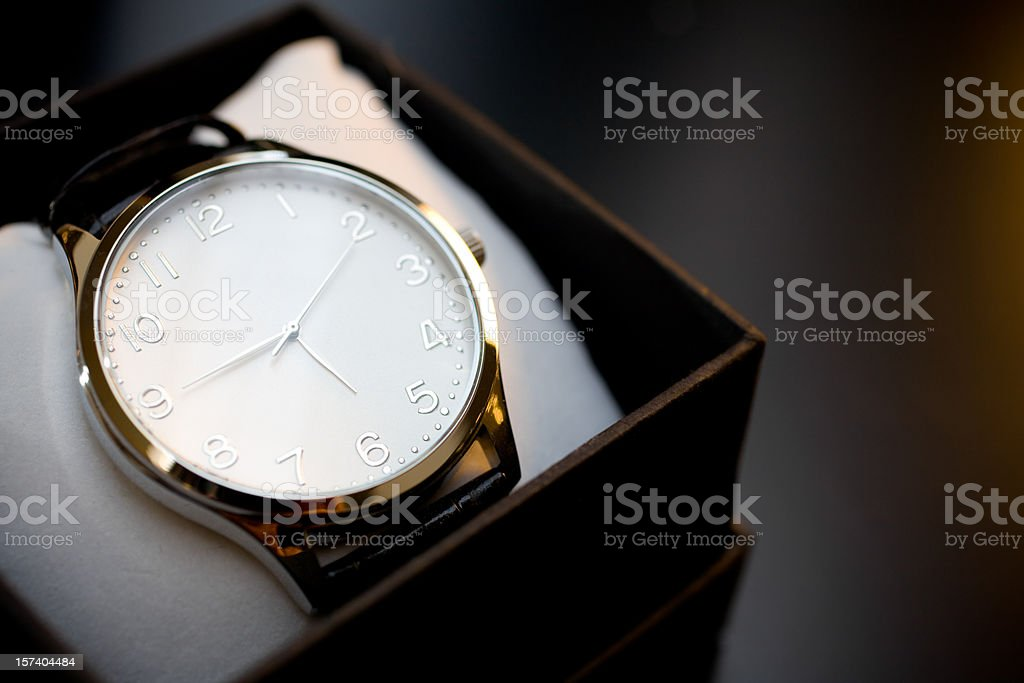 White clock stock photo
