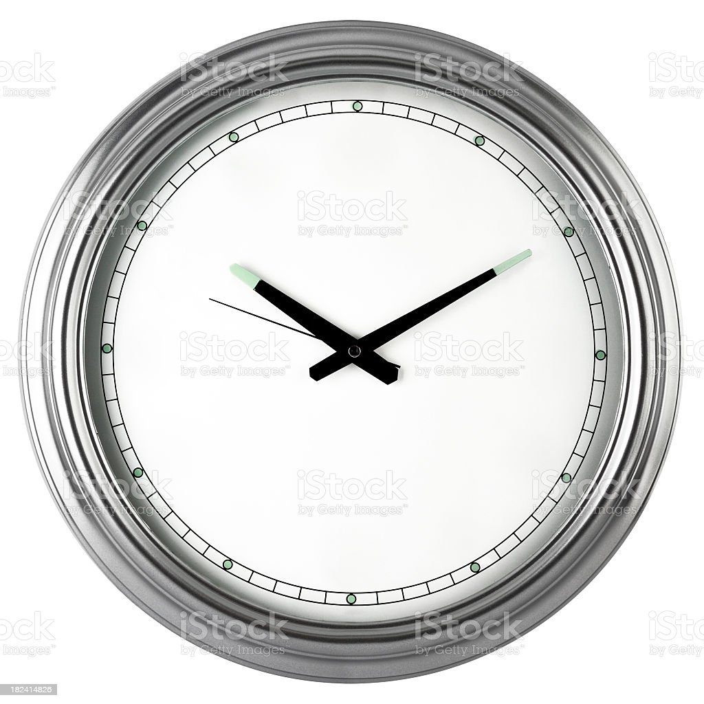 White clock royalty-free stock photo