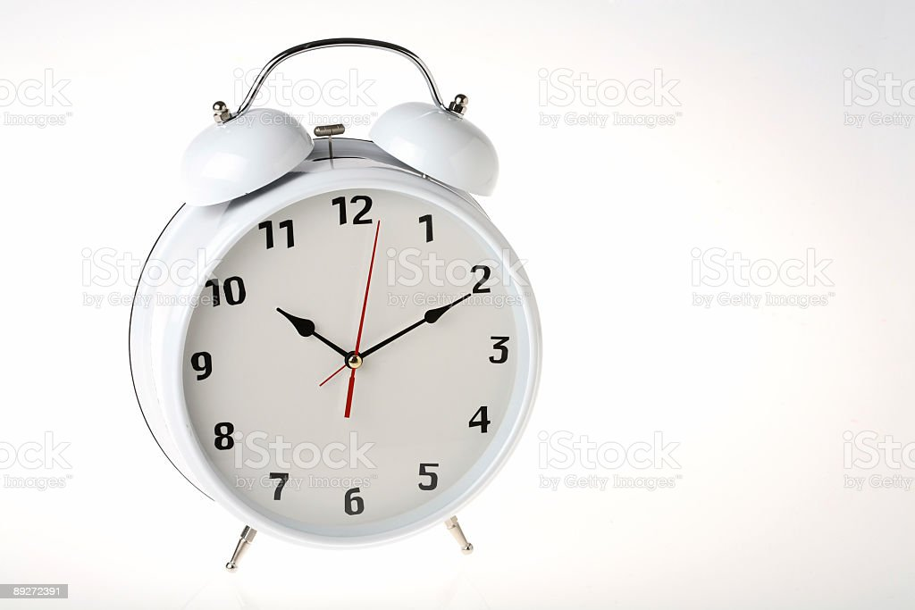 white clock royalty-free stock photo