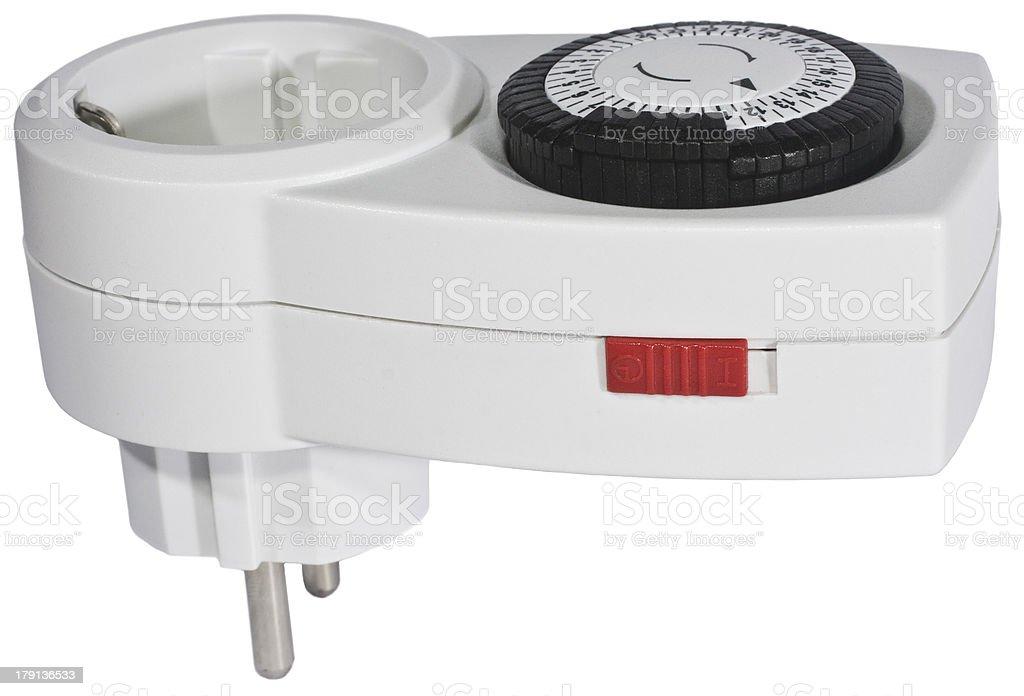 white clock timer royalty-free stock photo
