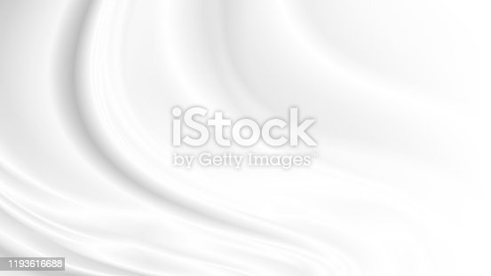 White cloth background with copy space