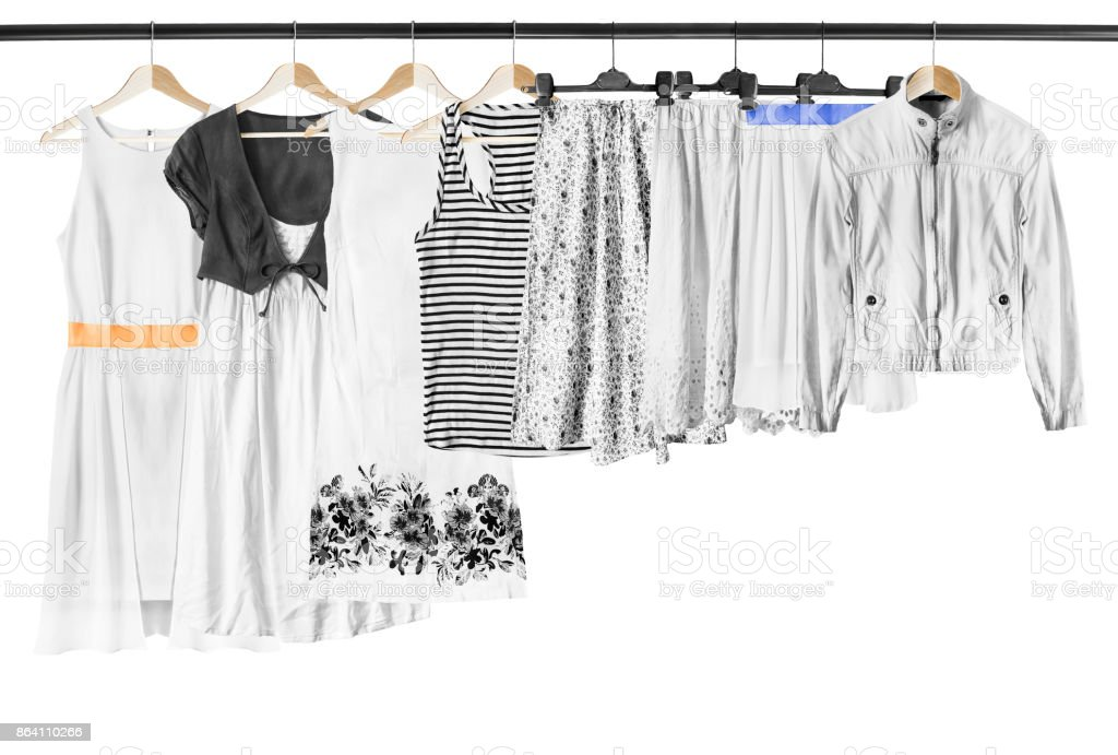 White clothes isolated royalty-free stock photo