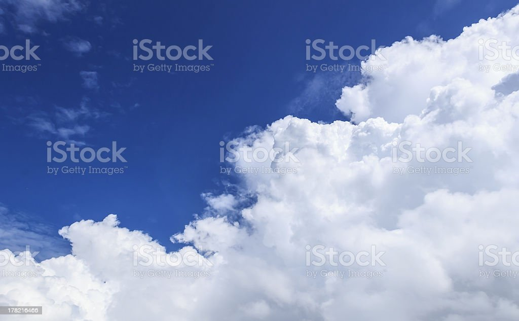 White Cloud and Blue Sky in Sunny Day royalty-free stock photo