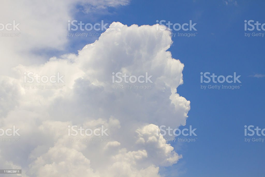 White cloud and sky stock photo