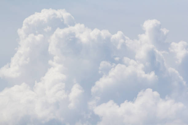 white cloud background and texture stock photo