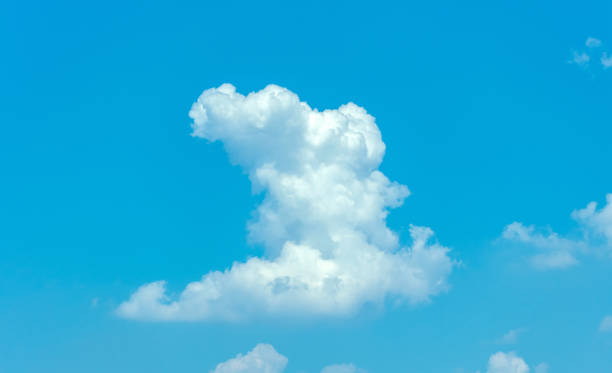 White cloud in sky stock photo