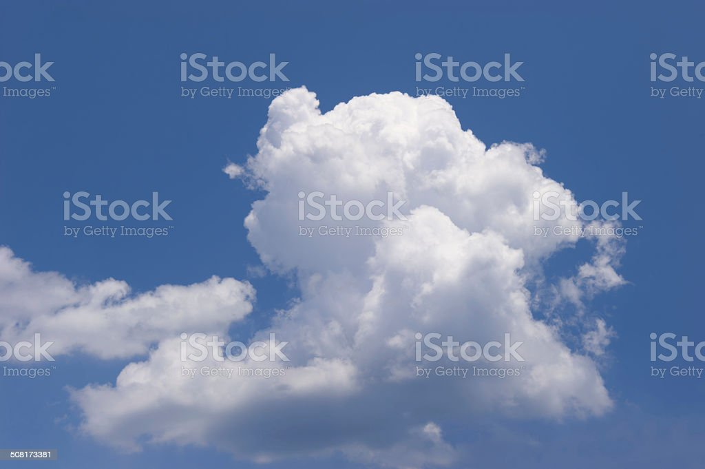 White cloud in the blue sky royalty-free stock photo