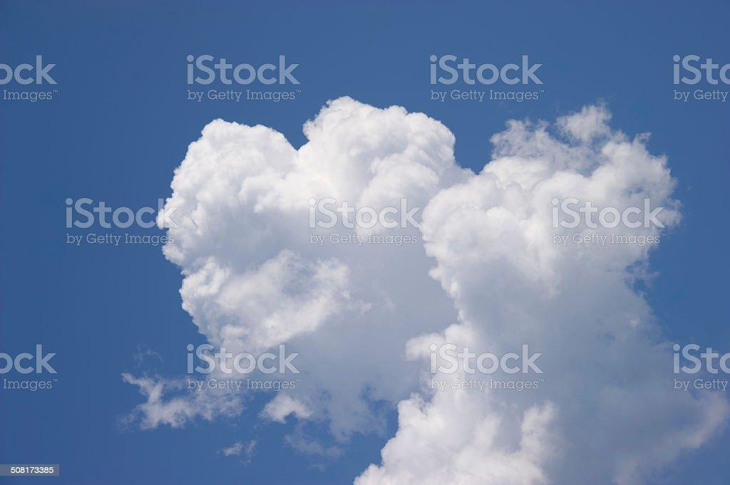 White cloud in the blue sky stock photo