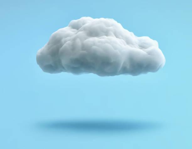 파란색 배경에 격리 된 흰색 구름입니다. 클리핑 경로 포함 - 구름 뉴스 사진 이미지