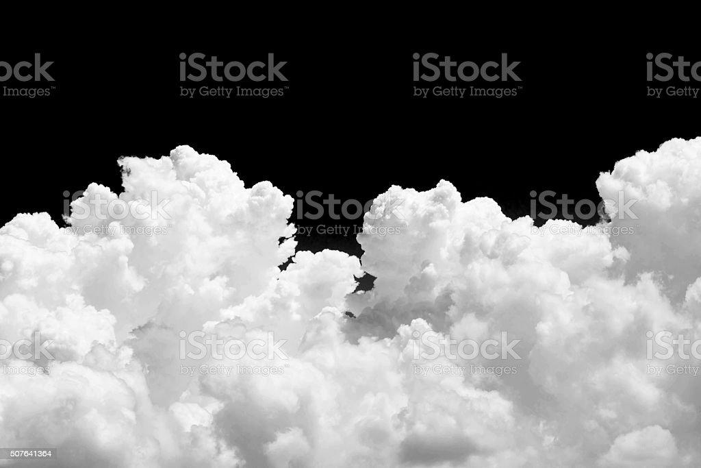 White cloud on black background royalty-free stock photo
