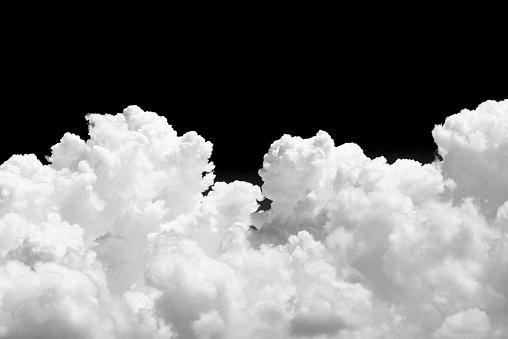 istock White cloud on black background 507641364