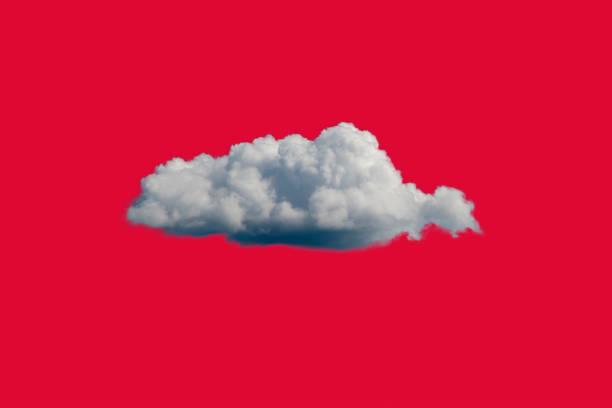 white cloud on red sky or background - vr red background imagens e fotografias de stock