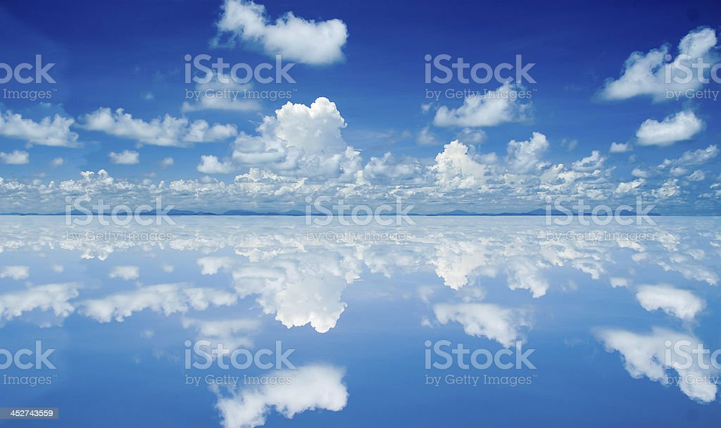 White cloud on sky background stock photo