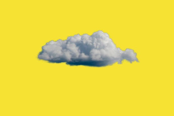 White Cloud on Yellow Sky or Background stock photo