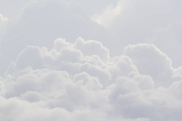white cloud texture and background, cloudy picture for weather forecast stock photo