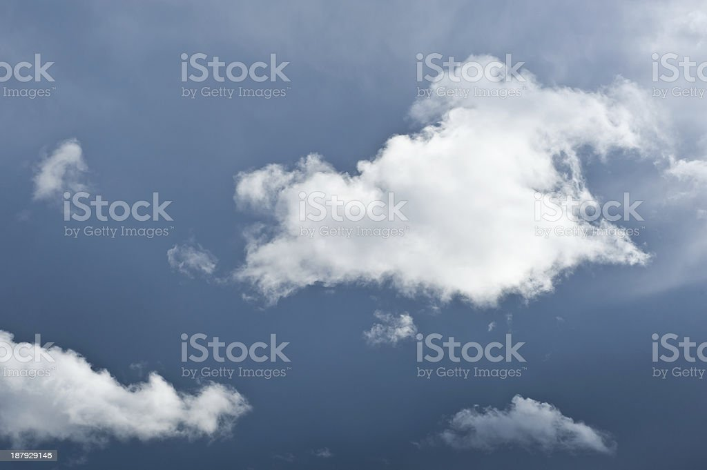 White cloud with dark sky royalty-free stock photo