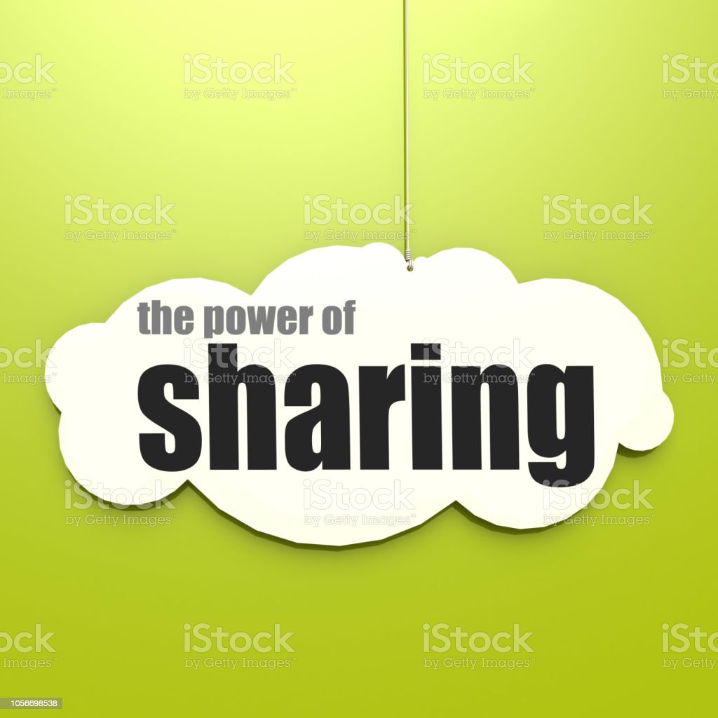 White cloud with the power of sharing stock photo