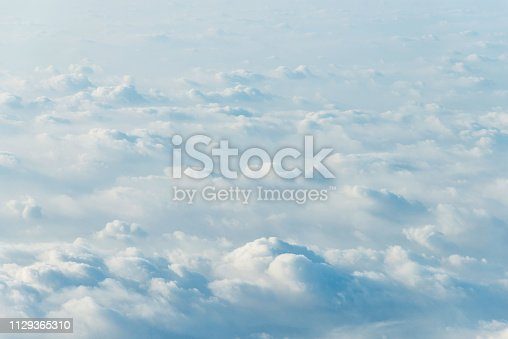 istock White clouds background 1129365310