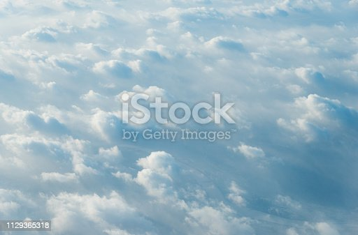 istock White clouds background 1129365318