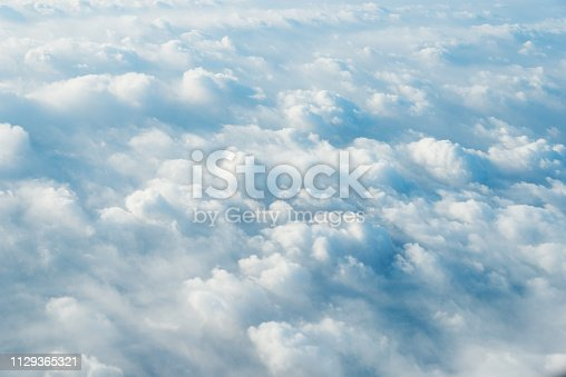 istock White clouds background 1129365321