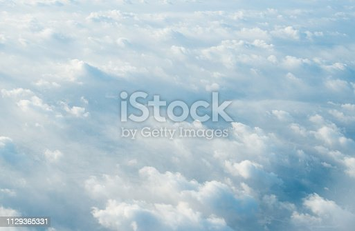 istock White clouds background 1129365331