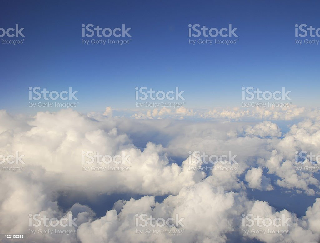 White clouds fluffy in the blue sky royalty-free stock photo