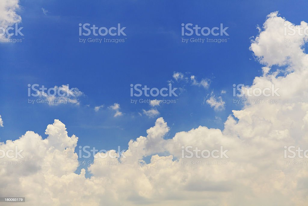 White clouds in blue sky royalty-free stock photo