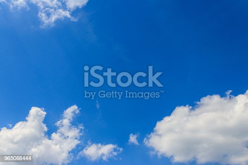 White Clouds In Blue Sky Stock Photo & More Pictures of Atmosphere