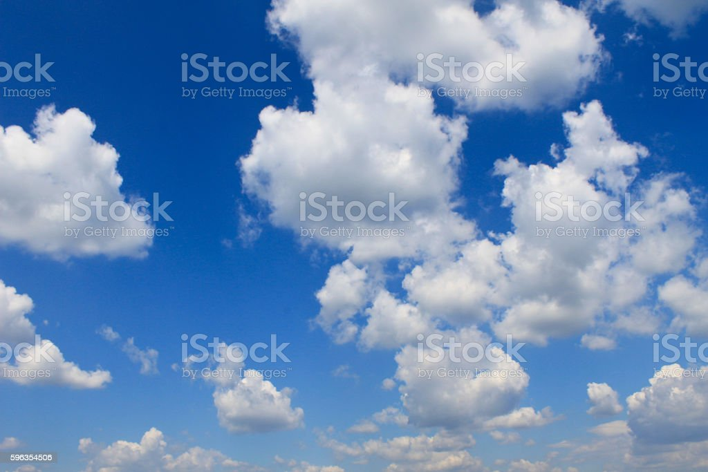 White clouds in the blue sky royalty-free stock photo