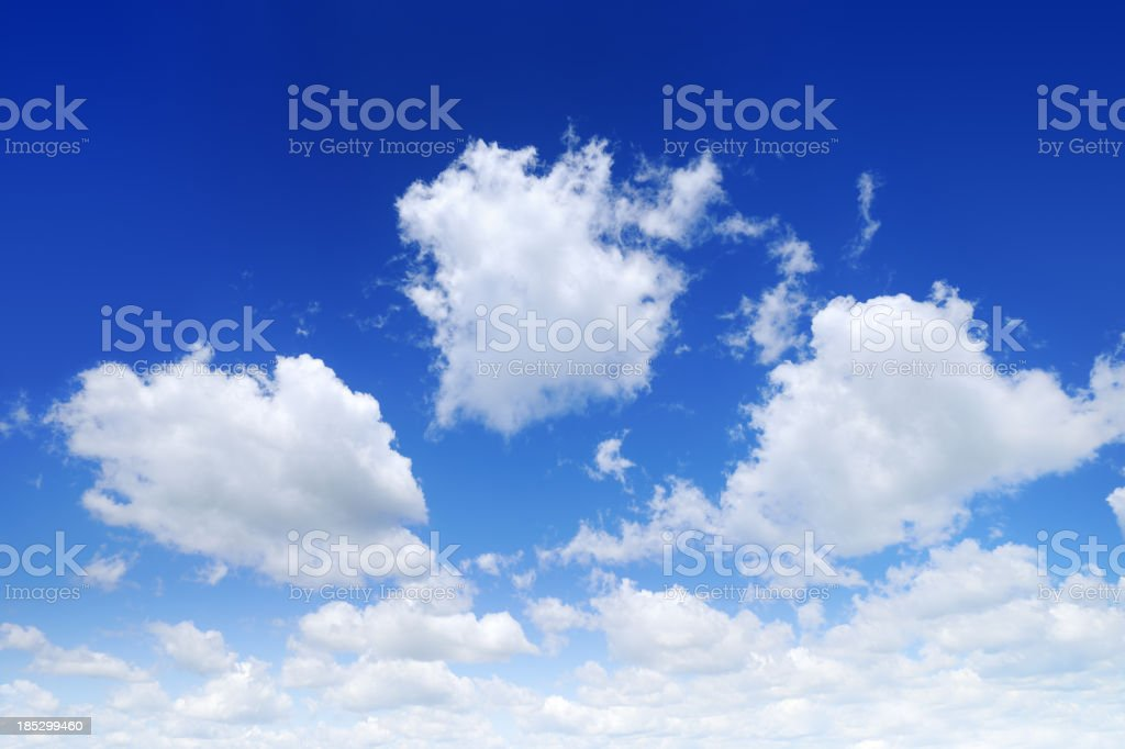 White clouds in the blue sky, SCROLL DOWN for more royalty-free stock photo