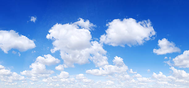 White clouds in the blue sky, SCROLL DOWN for more stock photo