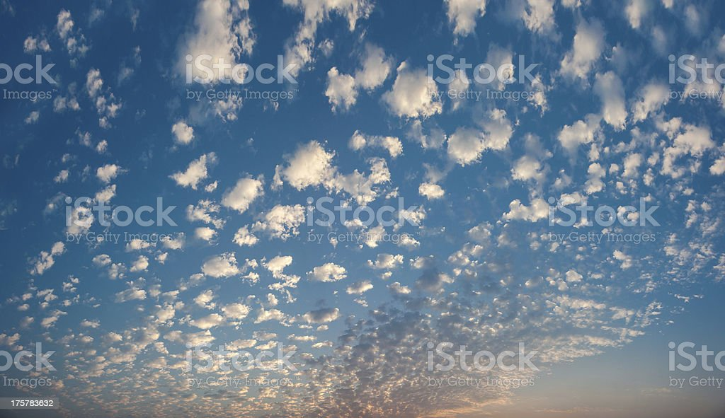 white clouds in the sky royalty-free stock photo