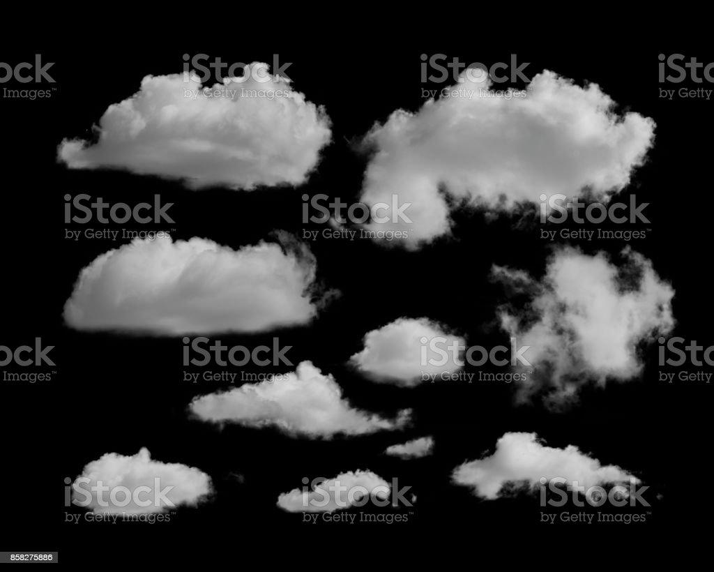 weiße Wolken auf einem schwarzen Hintergrund – Foto