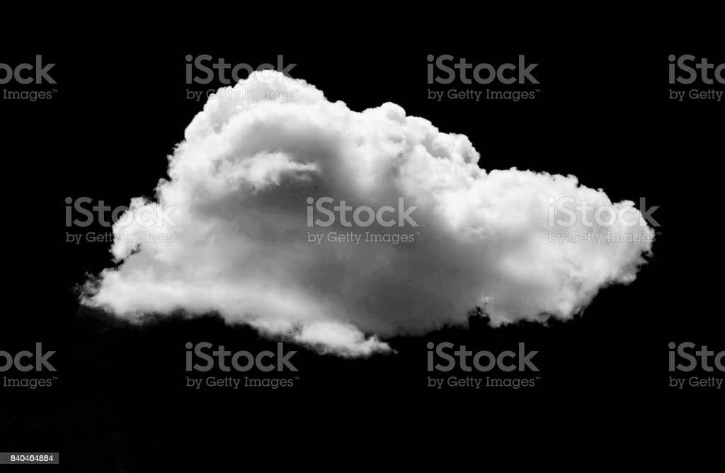 Nubes blancas en fondo negro del cielo - foto de stock