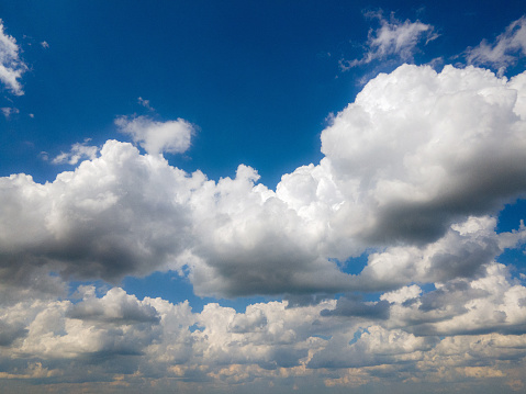 isolated cloud over blue sky