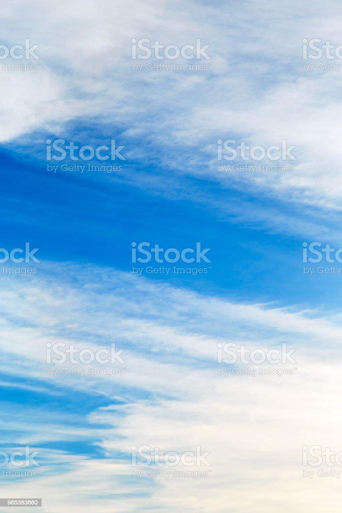 White clouds on the blue sky at summer. zbiór zdjęć royalty-free